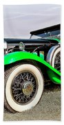 1930 Willys Knight 66b-plaidside Beach Towel