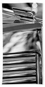 1931 Marmon Sixteen Coupe Hood Ornament 4 Beach Towel