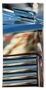 1931 Marmon Sixteen Coupe Hood Ornament Beach Towel