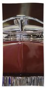 1931 Packard 840 Roadster Hood Ornament Beach Towel