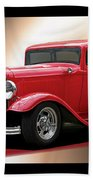 1932 Ford 'cherry Bomb' Sedan Beach Towel