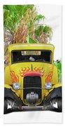 1932 Ford Five-window Coupe 'head On' I Beach Towel