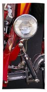1932 Ford Hi-boy Roadster Headlight Beach Towel