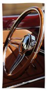1932 Ford Hot Rod Steering Wheel 2 Beach Towel