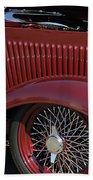 1932 Ford Hot Rod Wheel Beach Towel