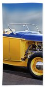 1932 Ford Roadster 'pass Side' L Beach Towel
