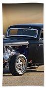 1932 Ford 'silky Satin' Coupe I Beach Towel