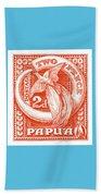 1932 Papua New Guinea Bird Of Paradise Postage Stamp Beach Towel