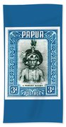 1932 Papua New Guinea Native Dandy Postage Stamp Beach Towel