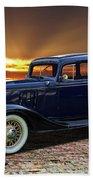 1933 Chevrolet 4 Door Eagle Sedan Beach Towel