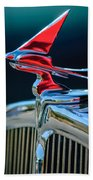 1933 Franklin Olympic Hood Ornament Beach Towel