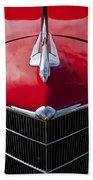 1933 Oldsmobile Hood Ornament Beach Towel