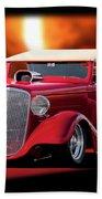 1934 Chevrolet Phaeton Convertible Beach Towel