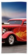 1934 Ford 'three Window' Coupe I Beach Towel