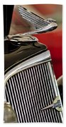 1935 Chevrolet Optional Eagle Hood Ornament Beach Towel