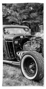 1935 Chevy Sedan Rat Rod Beach Towel