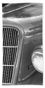 1935 Ford Sedan Grill Beach Towel