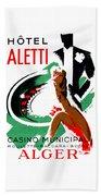 1935 Hotel Aletti Casino Algeria Beach Towel