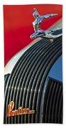1935 Pontiac Sedan Hood Ornament Beach Towel