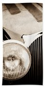 1936 Bugatti Type 57s Corsica Tourer Grille Emblem -1673s Beach Towel