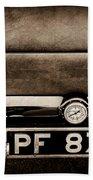 1936 Bugatti Type 57s Corsica Tourer License Plate -0067s Beach Towel