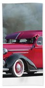 1936 Chevrolet Master Deluxe Sedan Beach Towel