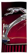 1936 Ford 68 Pickup Hood Ornament Beach Towel