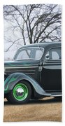 1936 Ford Deluxe Sedan I Beach Towel