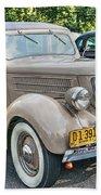 1936 Ford V8 Woody Station Wagon Beach Towel