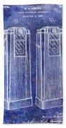 1936 Gas Pump Patent Blue Beach Sheet