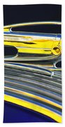 1936 Pontiac Hood Ornament Beach Towel