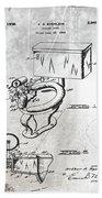 1936 Toilet Bowl Patent Antique Beach Towel