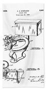 1936 Toilet Bowl Patent Beach Towel