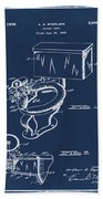 1936 Toilet Bowl Patent Blue Beach Towel