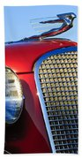1937 Cadillac V8 Hood Ornament 2 Beach Towel