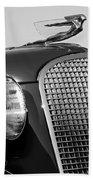 1937 Cadillac V8 Hood Ornament 3 Beach Towel by Jill Reger