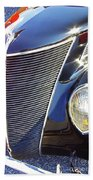 1937 Ford 2 Door Sedan Beach Towel