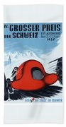 1937 Switzerland Grand Prix Racing Poster Beach Towel