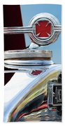 1938 American Lafrance Fire Truck Hood Ornament Beach Towel