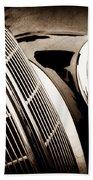 1938 Bmw 327-8 Cabriolet Grille Emblem -1526s Beach Towel