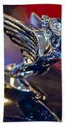 1938 Cadillac V-16 Hood Ornament Beach Towel