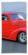 1938 Chevrolet 'all Business. Coupe Beach Towel