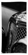 1938 Jaguar Ss100 3.5-liter Roadster Grille Beach Towel