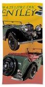 1939 Bentley Drop Head Coupe Beach Towel