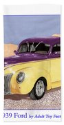 1939 Ford Deluxe Street Rod Beach Towel