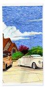 1939 Lincoln Zephyr  Family Home Beach Towel