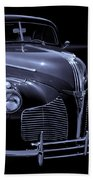 1940 Torpedo Coupe B/w Beach Towel