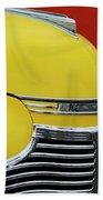 1941 Chevrolet Sedan Hood Ornament 2 Beach Towel by Jill Reger