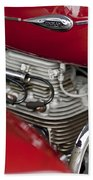 1941 Indian 4 Cyl Motorcycle Beach Towel