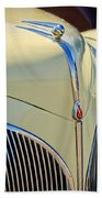 1941 Lincoln Continental Cabriolet V12 Grille Beach Towel